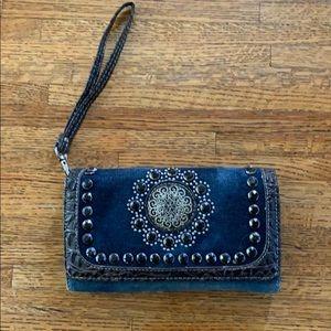 Bling fold wallet/wristlet